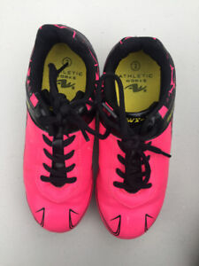 Girls soccer cleats, size 2