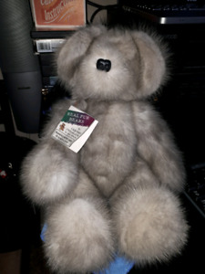 Creepy little teddy bear made out of real mink fur