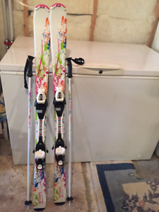 Skis and Poles, 130 cm