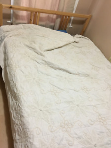 Ikea Queen bed frame and mattress (PRISTINE CONDITION)