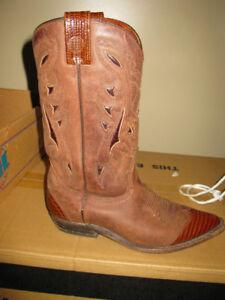 2 paires de bottes en cuir style cow-boy pour femmes