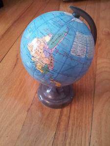 Small globe with pencil sharpener attached