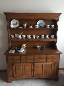 BUFFET AND HUTCH - SOLID WOOD  - GOING CHEAP - $100-00