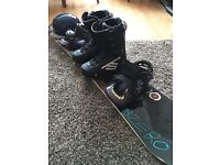 "Nitro Subzero 2013 153"" Snowboard /w Eiki Pro Model Switchback Bindings"