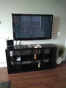 """TV (50"""" Panasonic) + stand + double arm (best offer)"""