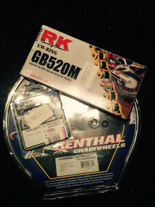 New Renthal sprockets/RK gold chain