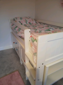 SOLD Marks and Spencer cabin bed white for sale.