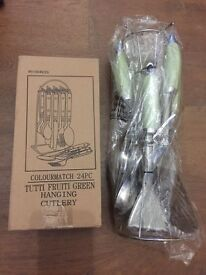 Argos hanging cutlery & serving set.