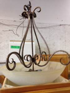 Light Fixtures - Stained Glass & Wrought Iron
