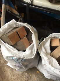 TWO LARGE BAGS OF FIREWOOD