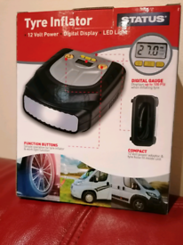 Status Tyre Inflator With LED Light NEW