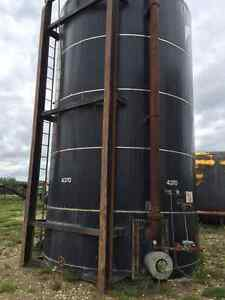 400 BBL tanks, skidded, good condition!  With gauge board.