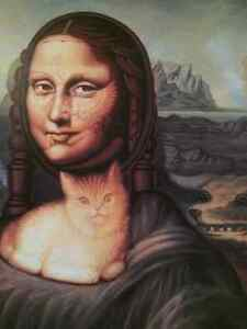 Mona Lisa Ish print on wood Kitchener / Waterloo Kitchener Area image 2