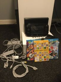 WII U 32Gb Black Console with 3 Games