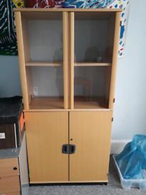 Glass frontage storage cabinet