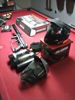 2x tippmann a-5 mask bombonne e-grip canon flatline