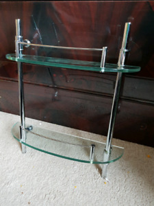 Glass shower shelf