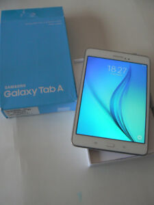 "SAMSUNG 8"" TABLET QUAD CORE 16GB SSD WHITE GREAT CONDITION"