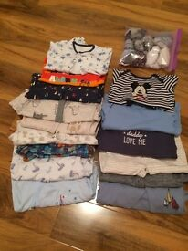 15 baby grows / sleepsuits for boys 9-12 months