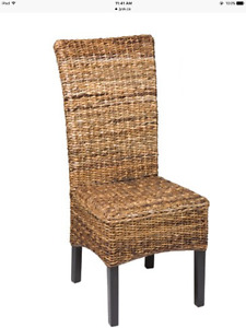 PAOLO Banana Leaf Dining Chairs -set of 4