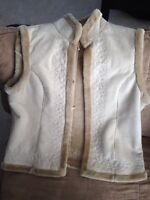 Traditions by Sears, sheepskin/fleece vest,ladies large