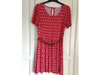 Oasis Red Dress with Belt - size small