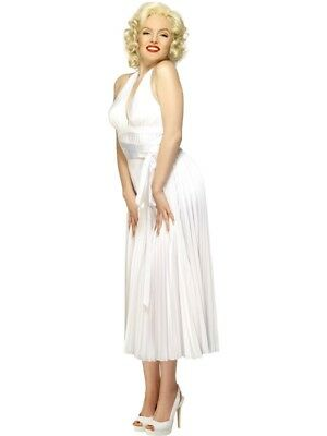 Marilyn Monroe Halterneck Dress Adult Womens Smiffys Fancy - Fancy Dress Marilyn Monroe
