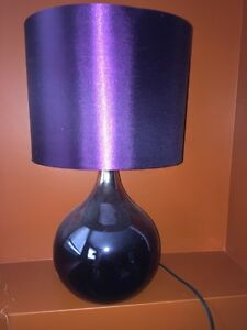 Pristine Condition Purple, Metallic Lamp