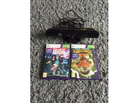 Xbox 360 kinect and two games