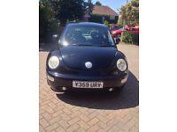 VW Beetle 2001,1.6 Petrol,Manual,black,1 year MOT