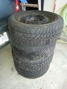 4x snow tires and rims 205/55/r16 Stratford Kitchener Area image 1