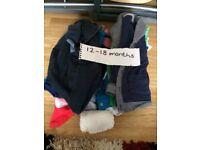 Baby boy 12-18 month clothes bundle