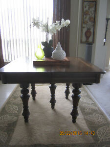 Large Antique Solid Oak Dining Table