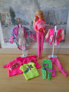 Vintage Barbie and the Rockers Doll #3055 w Clothes Lot Taiwan