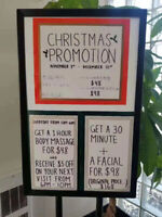 Holiday's promotion  for  nice massage