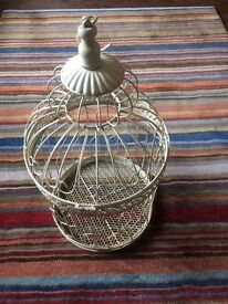 Decorative bird cage, wedding decoration, can put fairy lights inside
