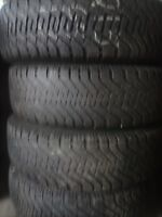 4 Good Year Nordic 215 65 17 tires on five bolt chev/dodge rims