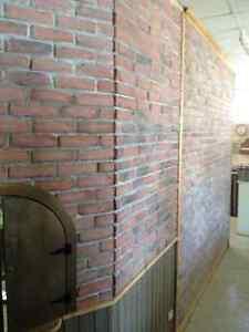 Mur de briques mini briquettes