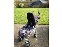 Chico Pushchair + Maxi cosi car seat + Co pilot bike seat all in great condition