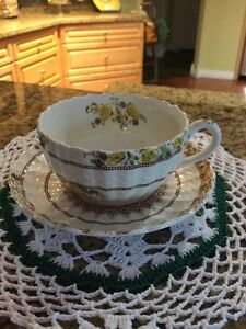 Vintage Spode Buttercup cup and saucer sets