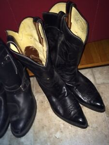 Leather cowboy boots size 12/13