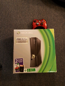 Xbox 360 w/ special red controller & games