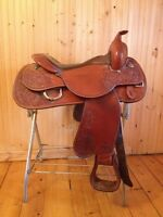 """Selle reining Circle Y, 16,5"""" Comme neuve"""