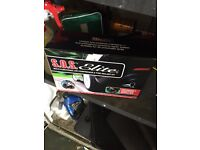 Sos elite tyre repair kit and jack and first aid kit