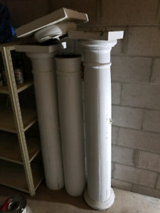 Vintage wood pillars,  5ft tall x 20in round.