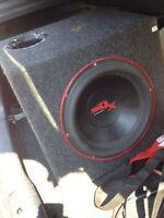 """12"""" subwoofer and box - car audio"""