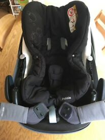 Maxi cosi pebble car seat and raincover