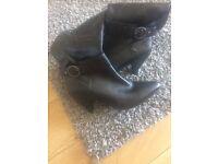 Debanhams black knee boots size 8