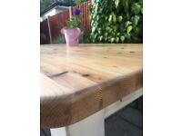 Solid Farmhouse Cottage Large Table