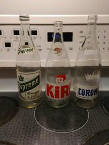 3 belles bouteilles de collection a vendre
